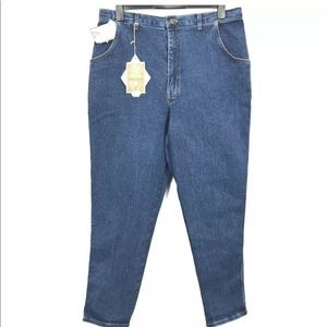 Vintage Silver Mom Jeans Size 44 High Rise